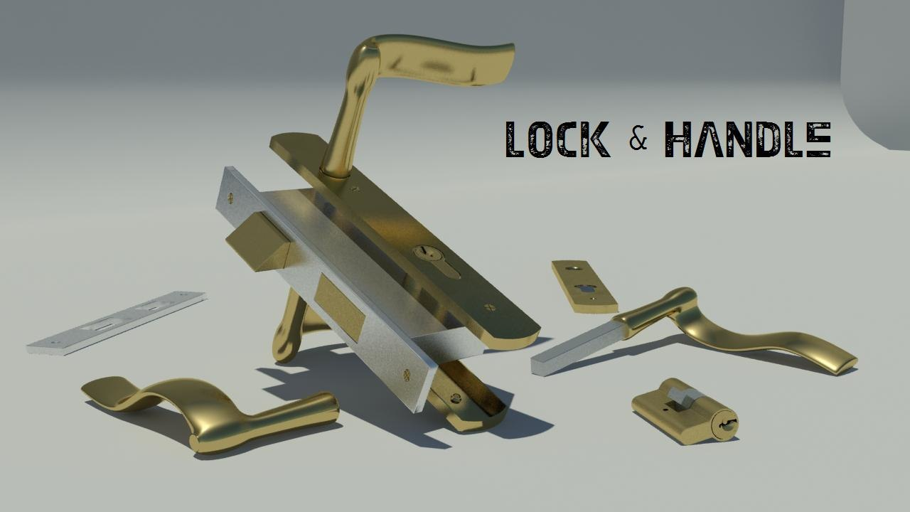 door handle lock obj