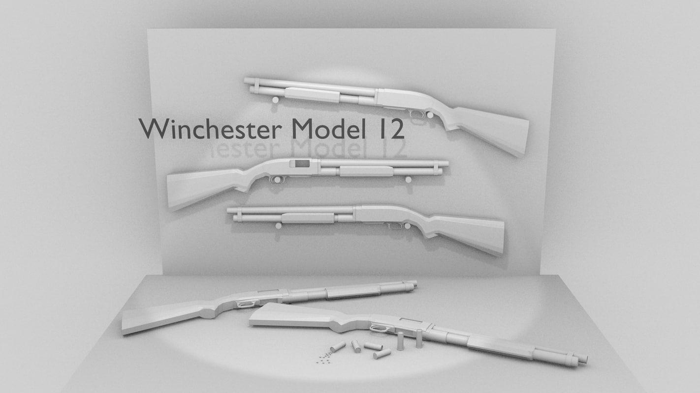 winchester 12 shotgun 3ds