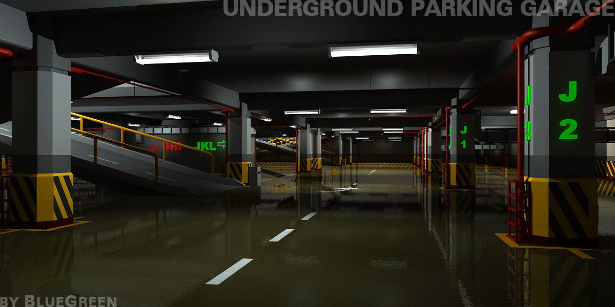 underground parking garage max