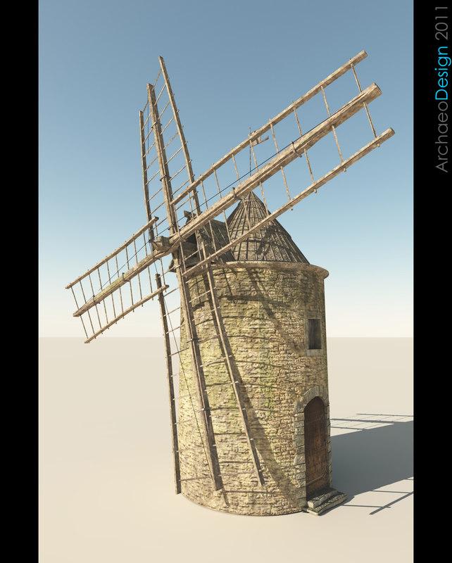 3d windmill wind model