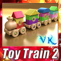 wooden train resolution 3ds