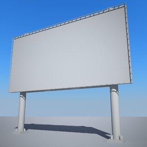 3d billboard elements roads banners model