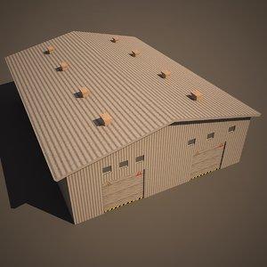 warehouse 3d 3ds