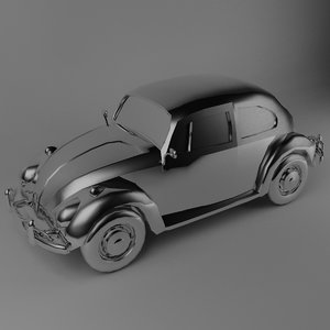3d old beetle model