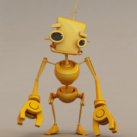 Yellow Robot Puppet