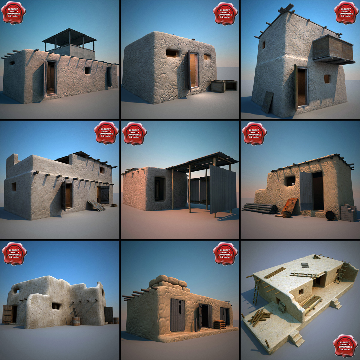 afghanistan houses v3 3d model