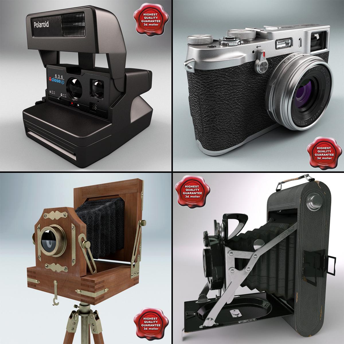 3d antique cameras v2 model