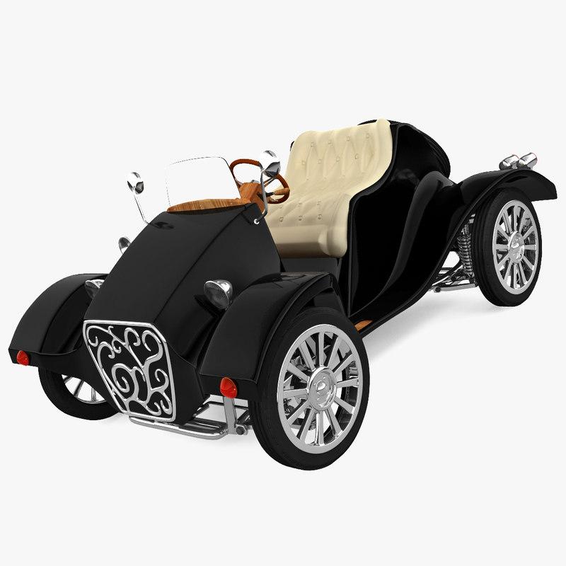 realistic electric car miluira 3d 3ds