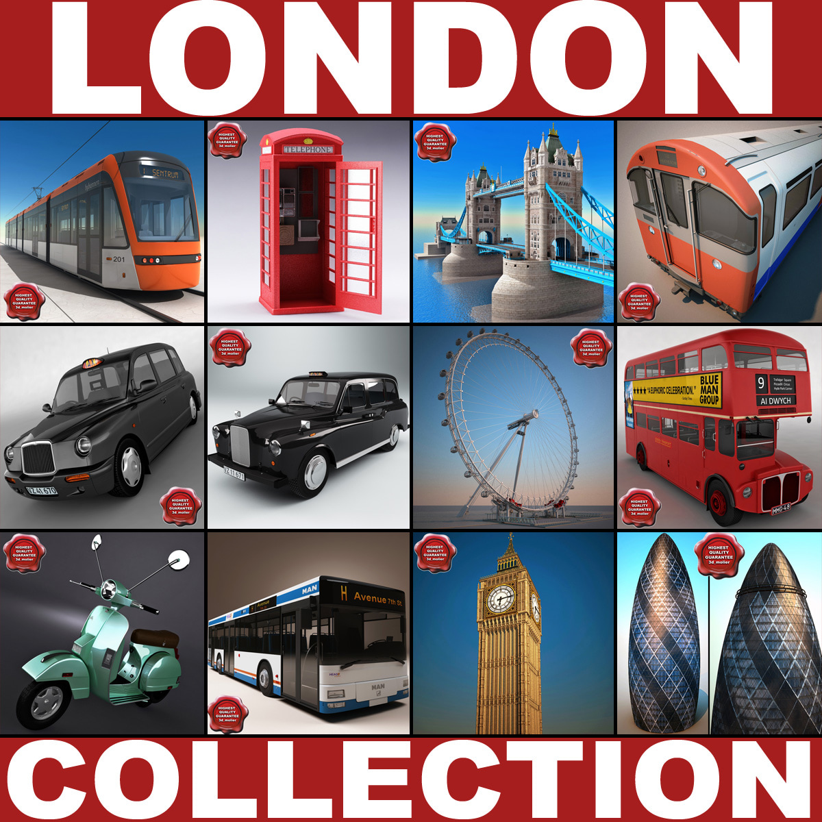 london big v2 3d max