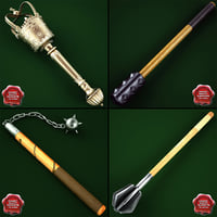medieval maces v2 3d 3ds