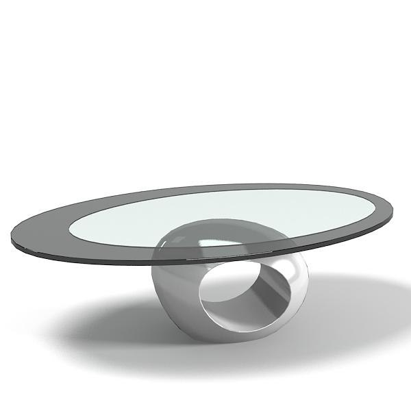 3d Model Of Oval Glass Table Part 62