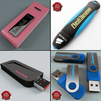 usb flash drives v2 3d 3ds