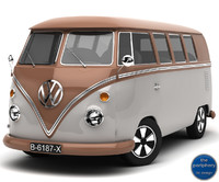 Volkswagen Type 1 Microbus Brown and Grey