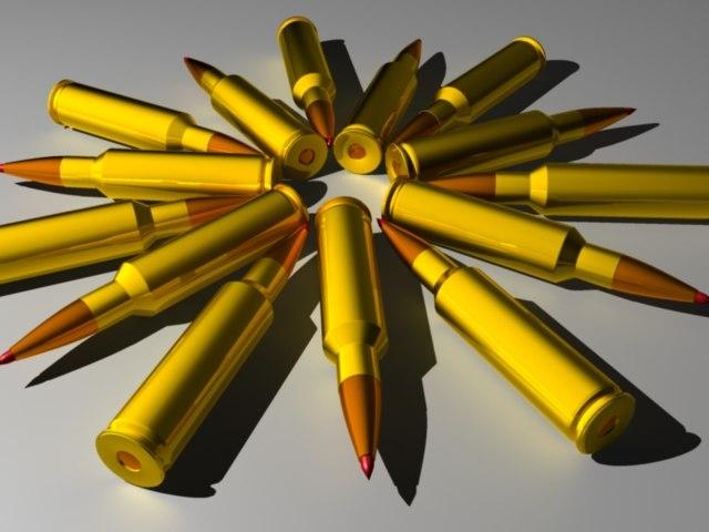 3d rifle cartridge bullet casing model