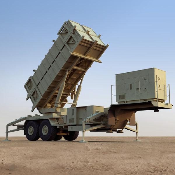 3ds max mim-104 patriot launcher