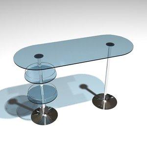 retro bar table 3d model