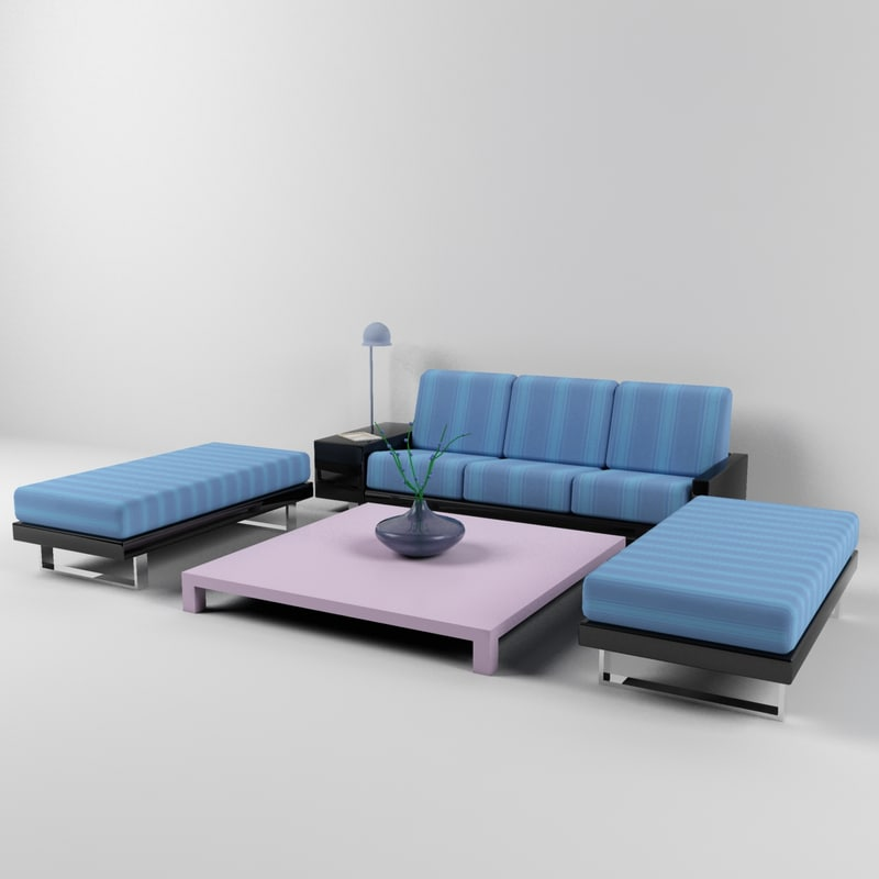 books magazine sofa table 3d max