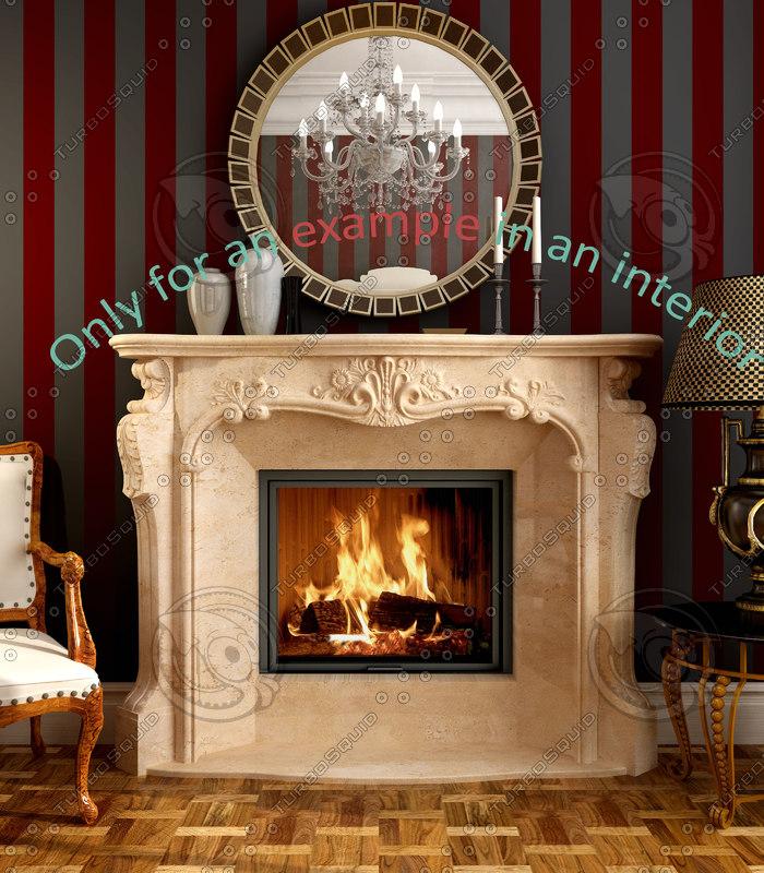 3d model fireplace 39