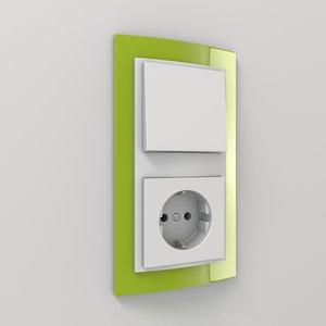 switch socket 3d model
