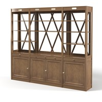 Lodge library cabinet Etagere traditional contry style