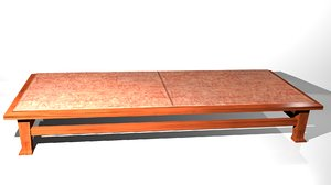 3d table w stone topped model