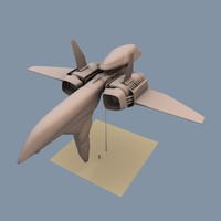 spaceship vessel eve 3d model