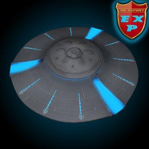 ufo classic 3d model
