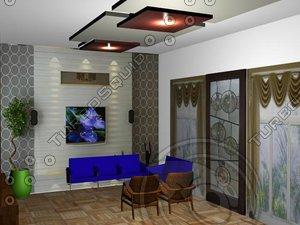 3d model drawing room-1a