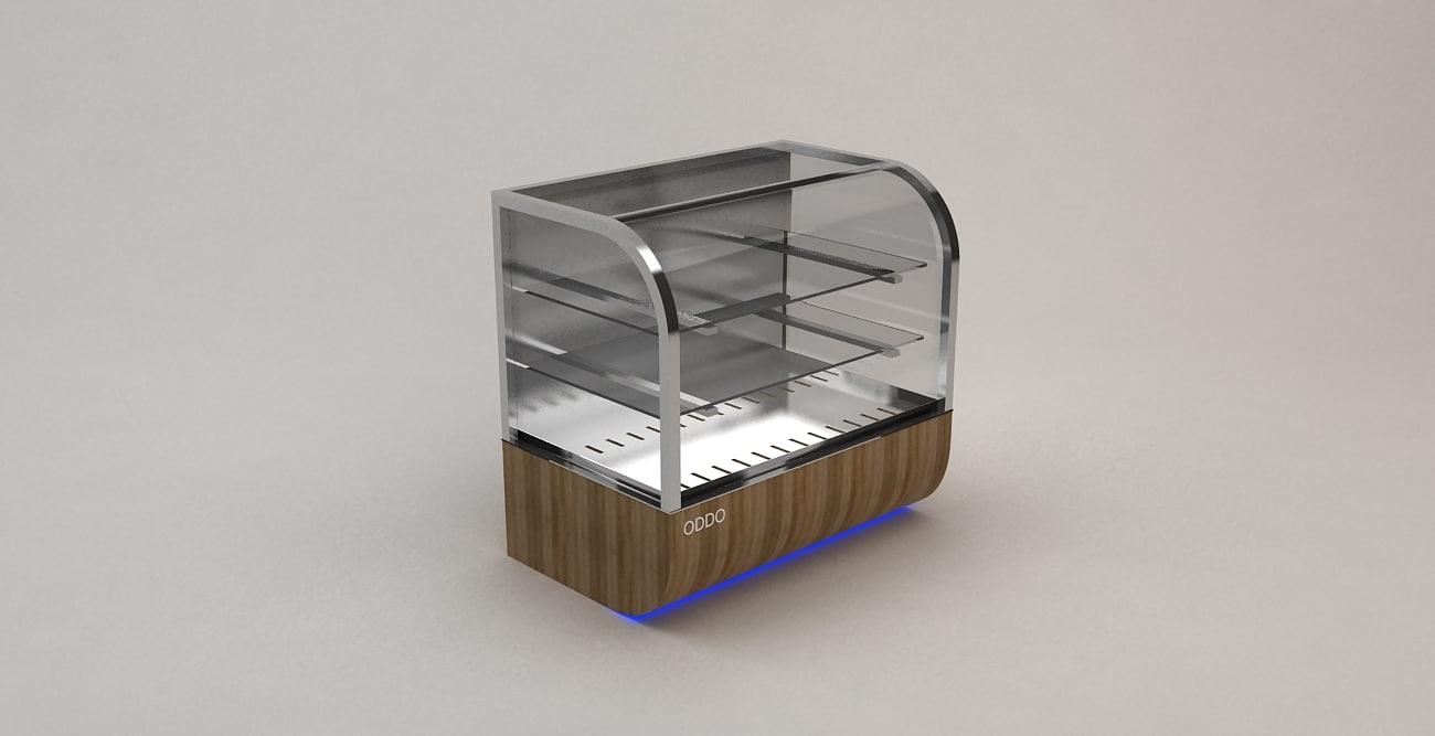 patisserie cabinet 3d 3ds
