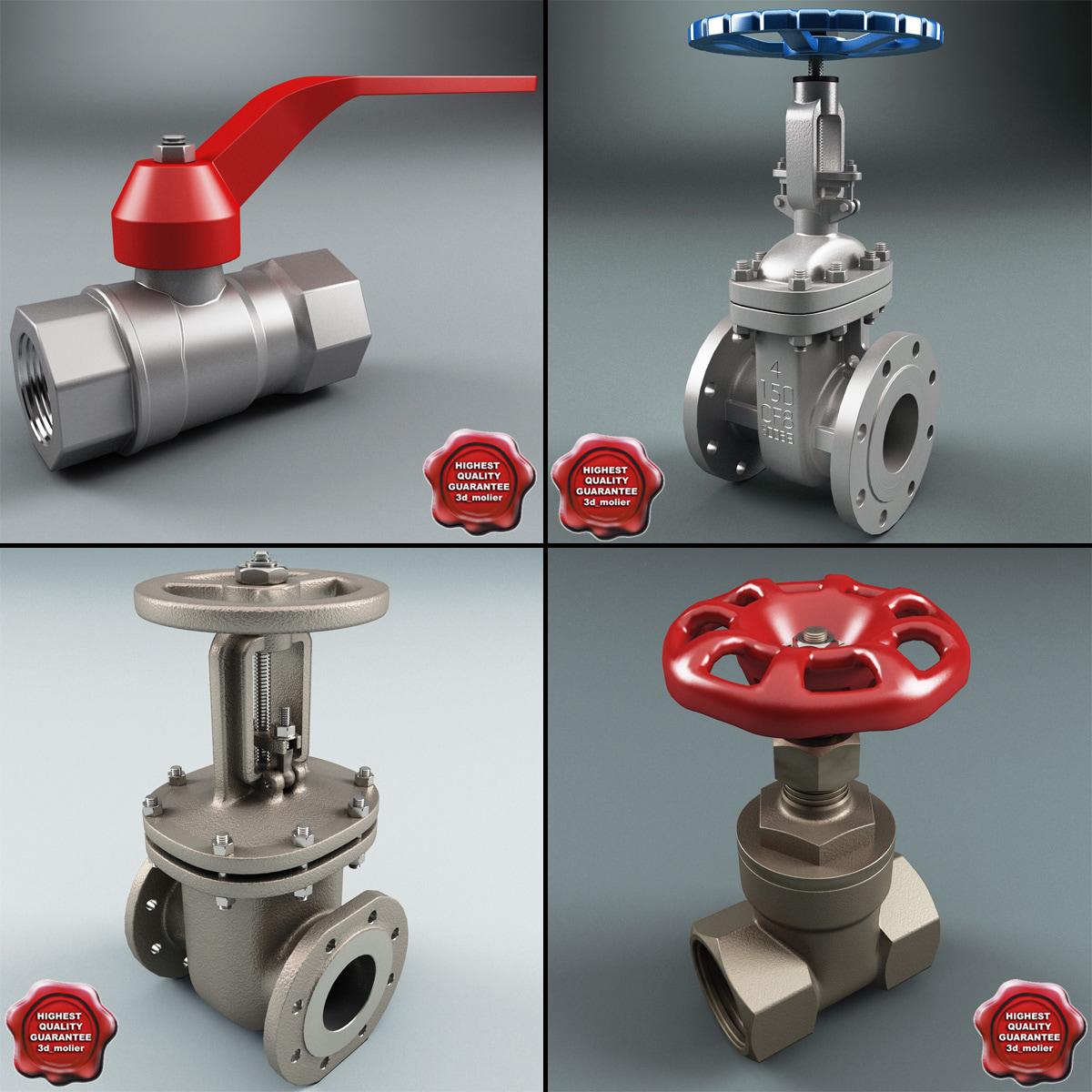 3ds max gate valves v1