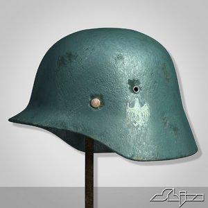 world war 2 german helmet 3d model