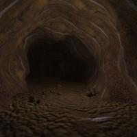 3d scene mars cave