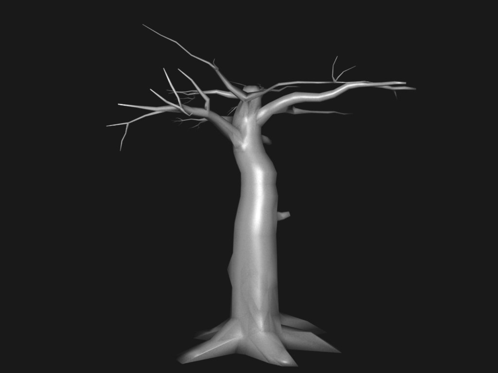 free old tree 3d model