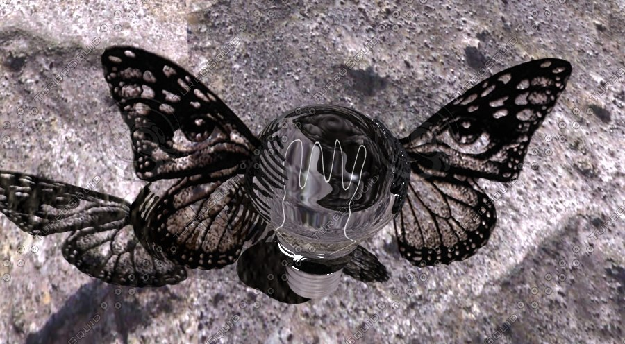 3ds max electric bulb butterfly wing