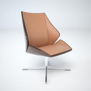 dauphin 4 lounge chair 3d model
