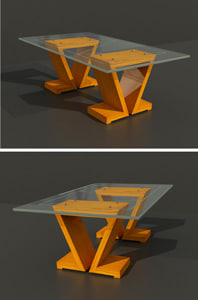 3ds max glass table wood