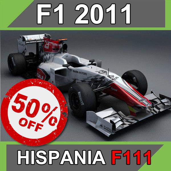 3d 2011 hispania hrt f111