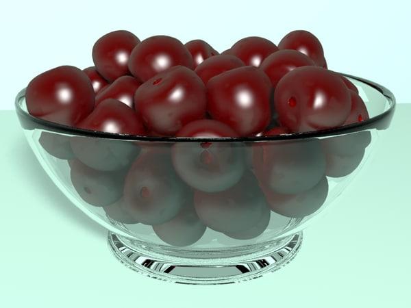 3d cherries berry