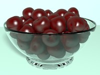 3d cherries berry