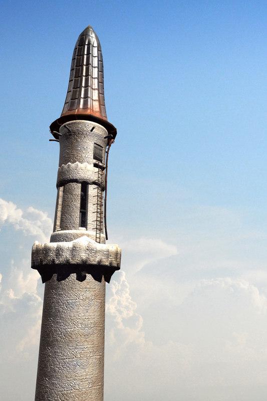 3ds max fantasy tower minarets