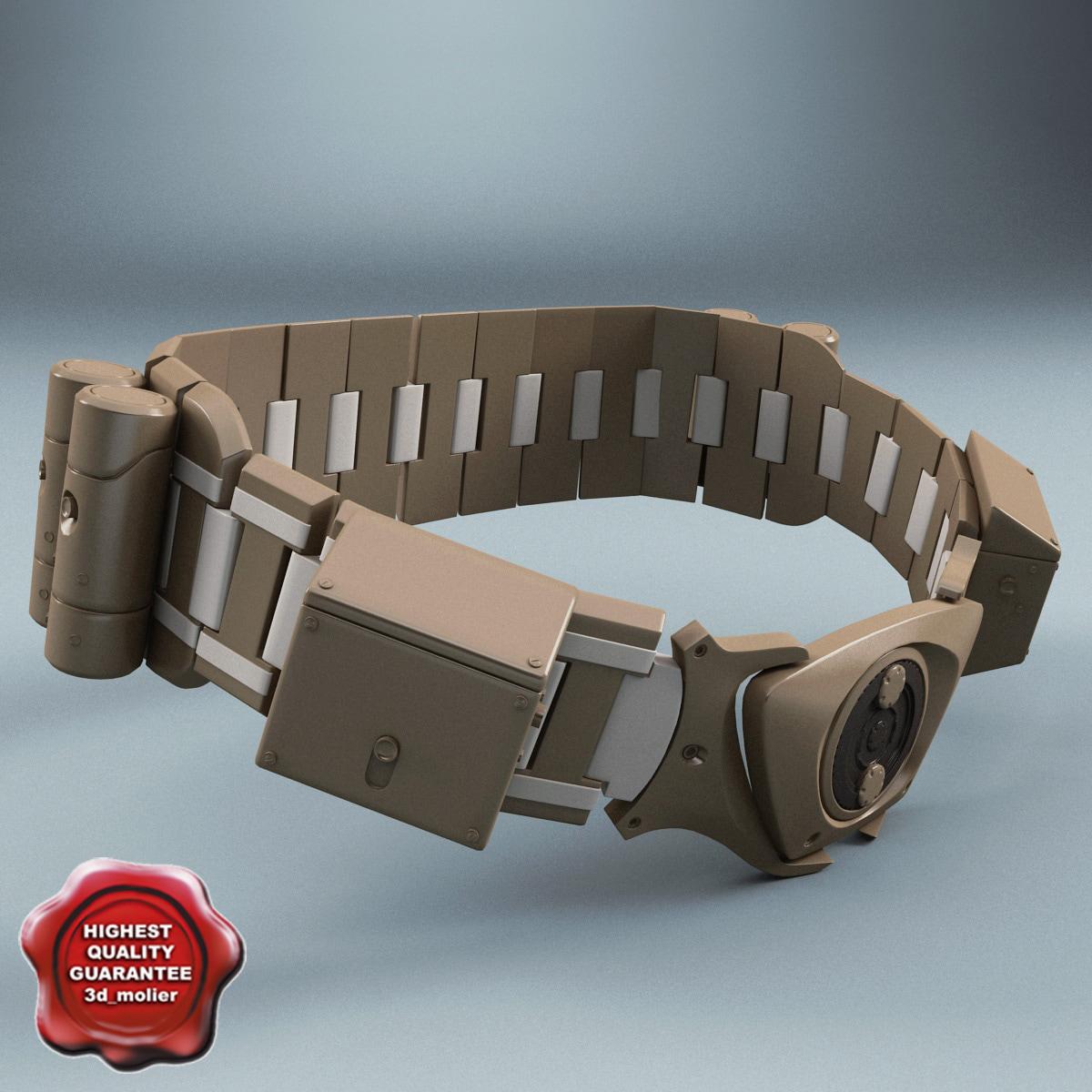 3d model batman belt