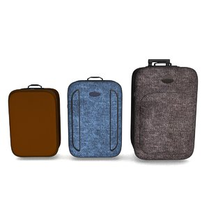 luggage suitcases 3d model