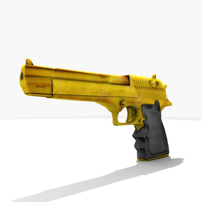 3d model gen desert eagle pistol