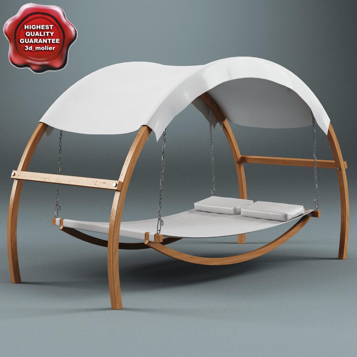 3ds max garden swing gazebo bed