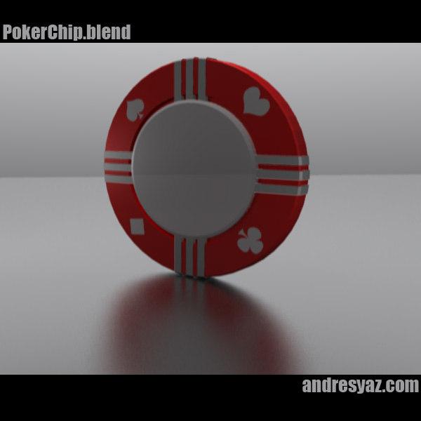 3d model of poker chips