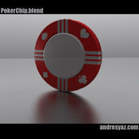 3d model of poker chips