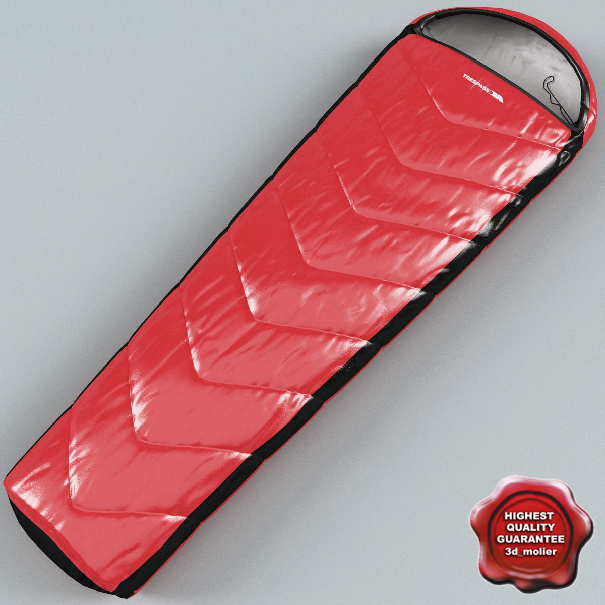 sleeping bag trespass 3d max