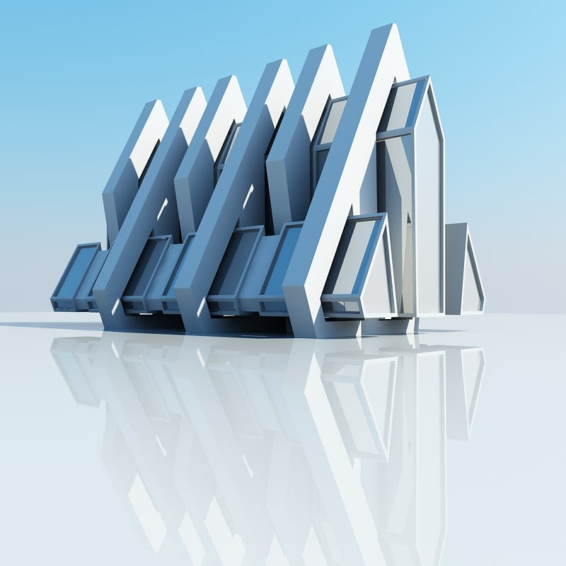 3d model architectural structure