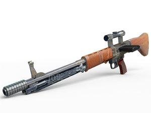 german assault rifle 3d model