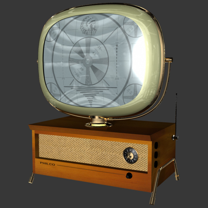 philco predicta holiday 3d model
